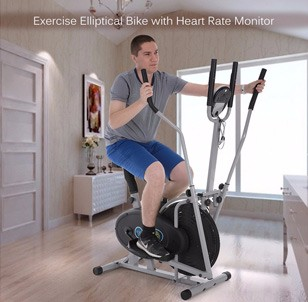 Elliptical Bike with Heart Rate Monitor
