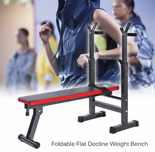 Foldable Flat Decline Weight Bench