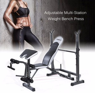 TOMSHOO Adjustable Multi-Station Weight Bench